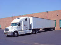Total Truck Transport Tractor Trailer at our home Warehouse near IAD Dulles Airport