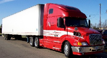Total Truck Transport - one of our 18 wheeler tractor trailer trucks
